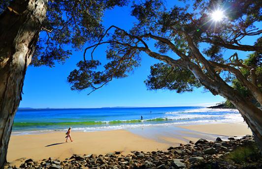Tea Tree Bay beach, a 30-minute drive from RaD at Sunshine Coast Airport.